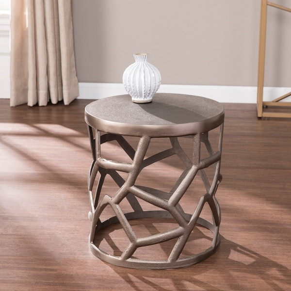 The Curated Nomad Knighton Metal Accent Table