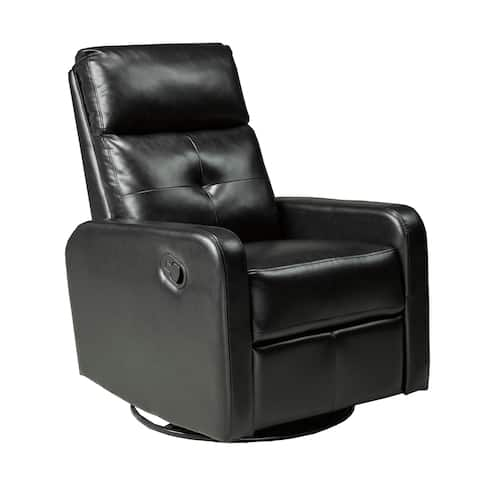 Soho Recliner with Rocker & Swivel, Black