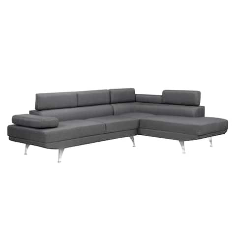Aria Sectional with Adj. Arms & Back, Grey