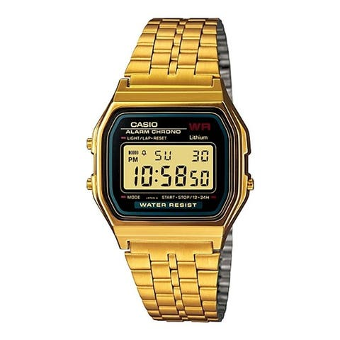Casio A159WGEA Retro Stainless Steel Watch