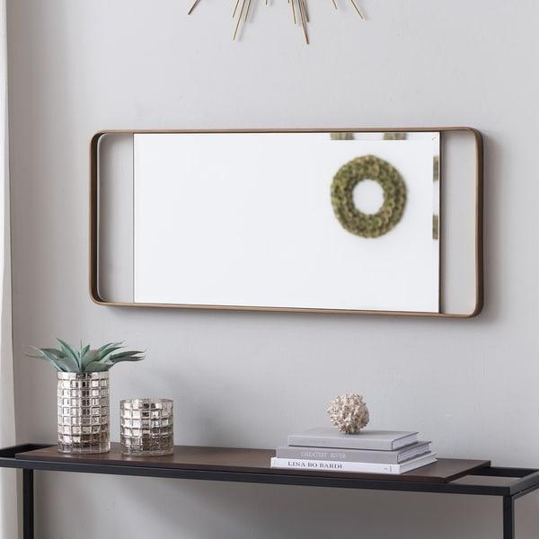 "Carson Carrington Eldon Decorative Leaning Mirror - Gold - 19"" x 1.25"" x 60.25"""