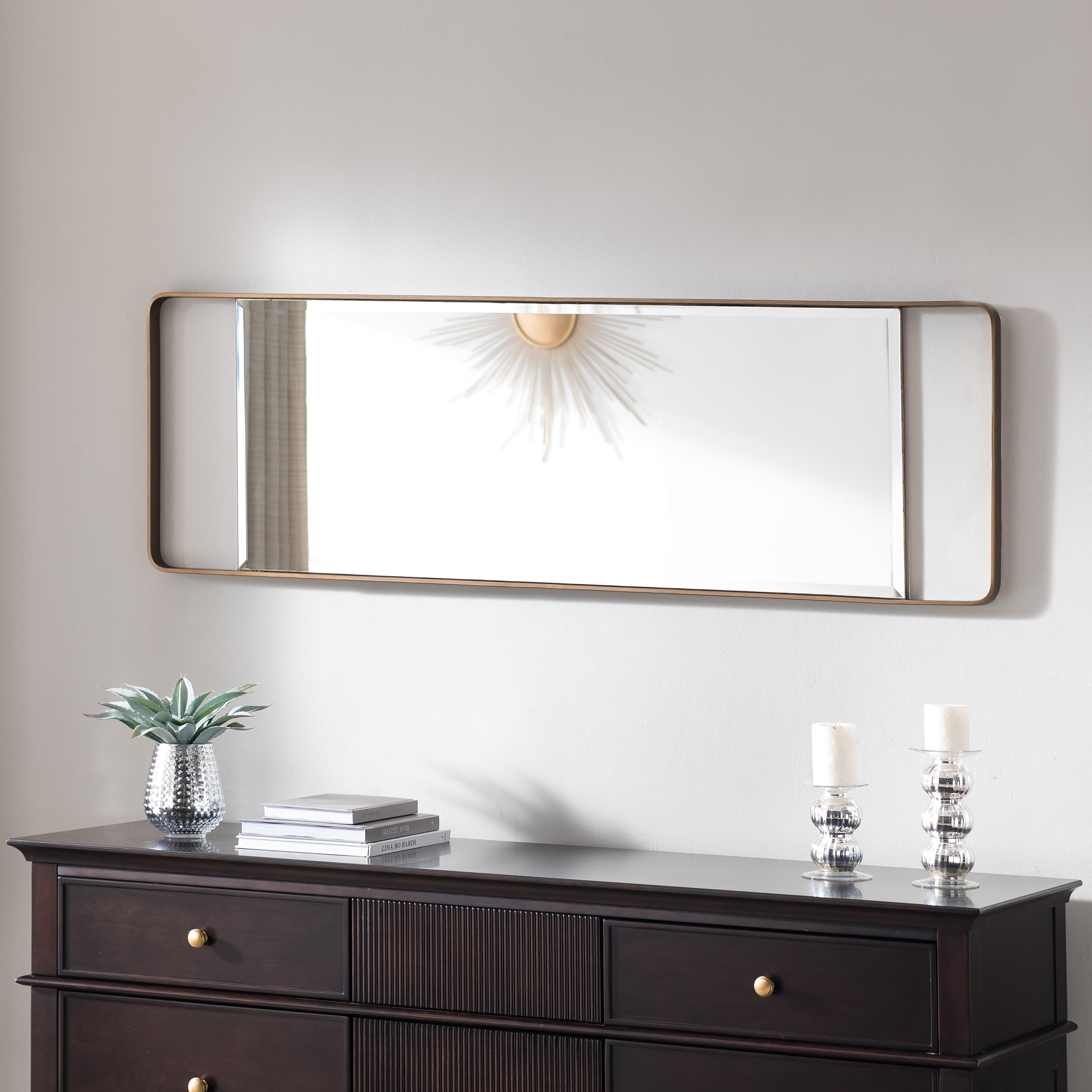 Carson Carrington Eldon Rectangle Gold Wall Mirror 17 X 1 25 X 40 25 Overstock 27989006
