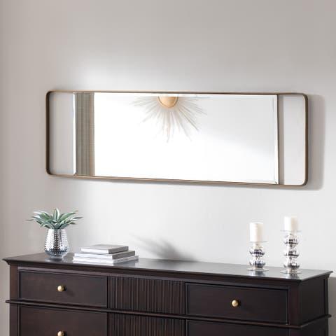 """Carson Carrington Eldon Rectangle Gold Wall Mirror - 17"""" x 1.25"""" x 40.25"""""""
