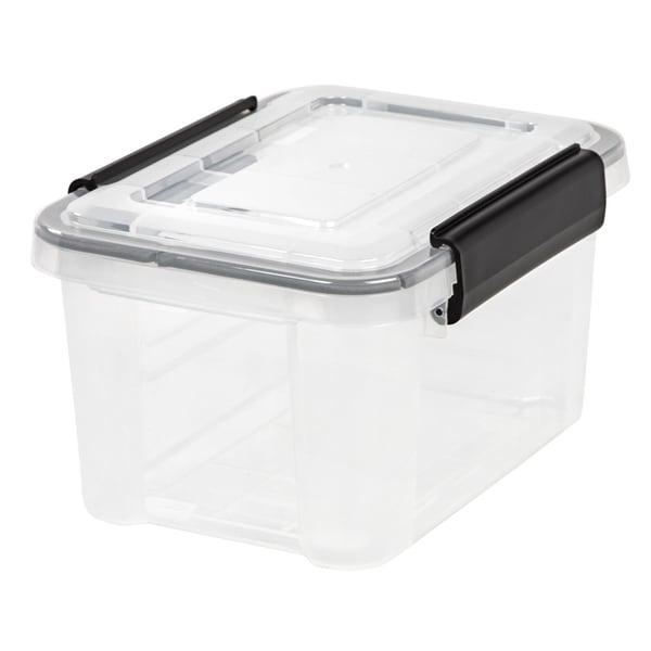 IRIS 6.5 Quart WEATHERTIGHT® Storage Box, Clear. Opens flyout.