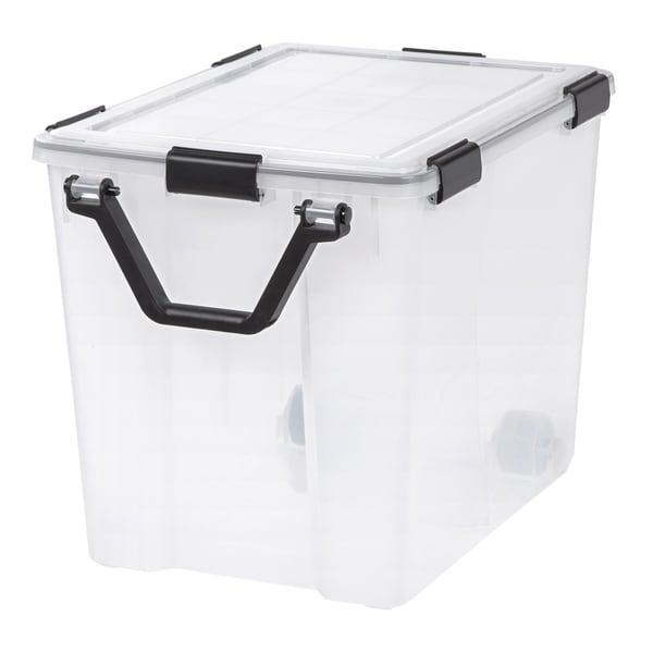 IRIS 103 Quart WEATHERTIGHT® Storage Box, Clear. Opens flyout.