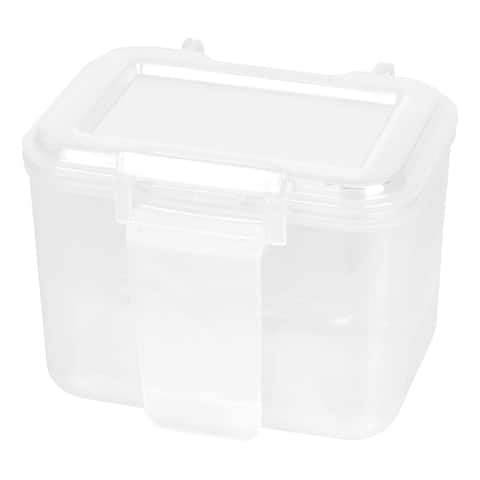 IRIS Small Portable Utility Storage Cases, Clear