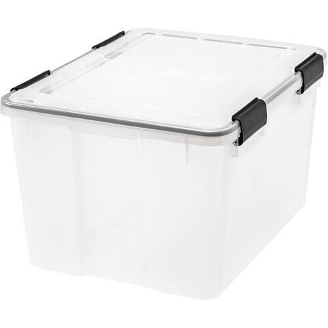 IRIS 46 Quart WEATHERTIGHT® Storage Box, Clear