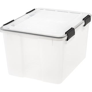 Link to IRIS 46 Quart WEATHERTIGHT® Storage Box, Clear Similar Items in Filing Storage & Accessories