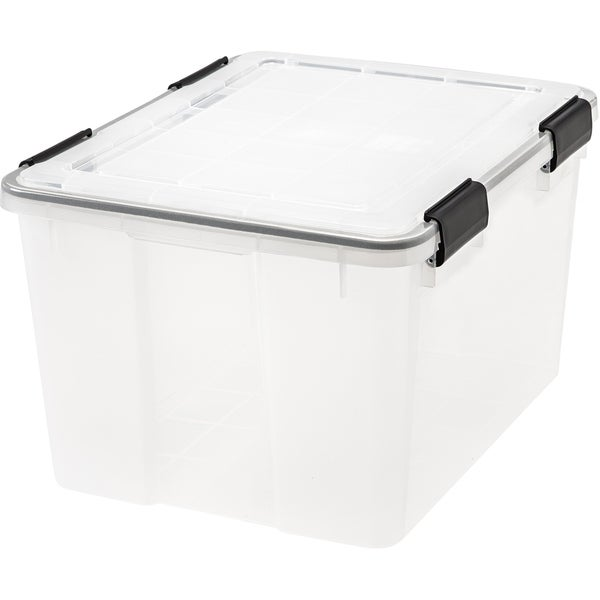 IRIS 46 Quart WEATHERTIGHT® Storage Box, Clear. Opens flyout.