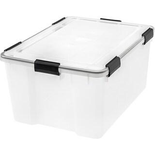 Link to IRIS 62 Quart WEATHERTIGHT® Storage Box, Clear Similar Items in Filing Storage & Accessories
