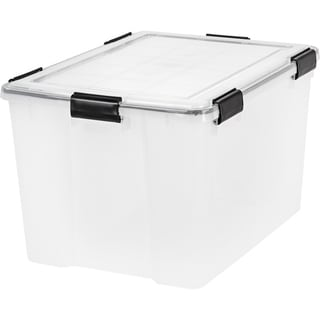 Link to IRIS 74 Quart WEATHERTIGHT® Storage Box, Clear - 74 qt Similar Items in Filing Storage & Accessories