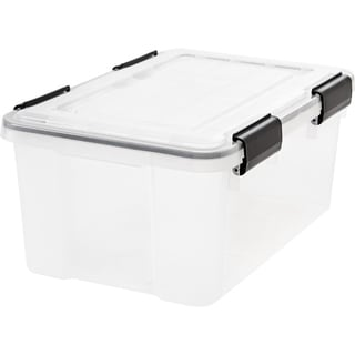 Link to IRIS 19 Quart Weathertight Storage Box, Clear Similar Items in Filing Storage & Accessories