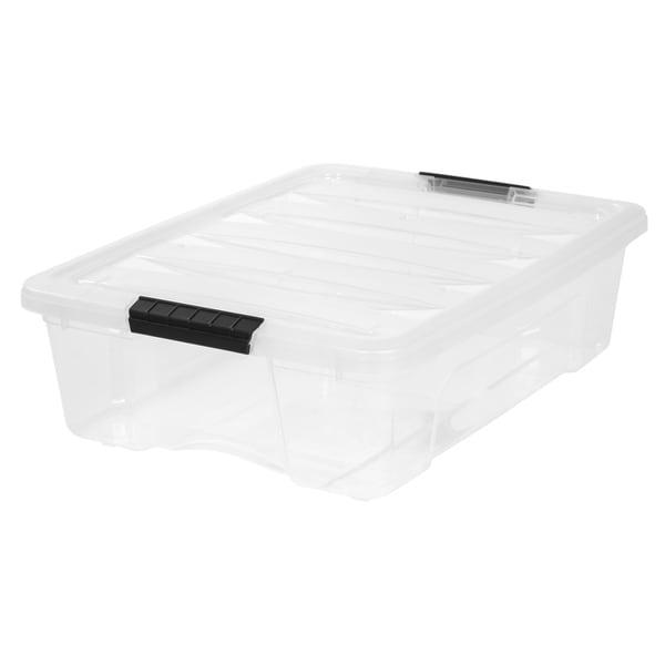 IRIS 26 Quart Stack & Pull™ Box, Clear