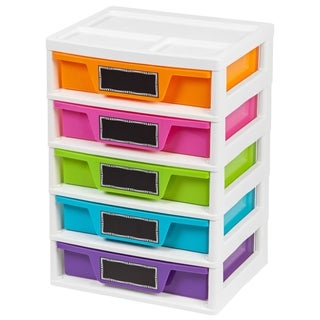 5 Drawer Storage & Organizer Chest, Assorted Colors, Girl
