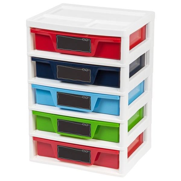5 Drawer Storage & Organizer Chest, Assorted Colors, Boy