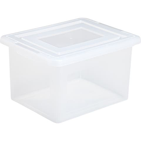 IRIS Classic Letter and Legal Size File Box, Clear