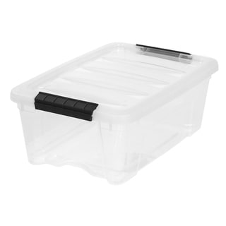 IRIS 12 Quart Stack & Pull™ Box, Clear