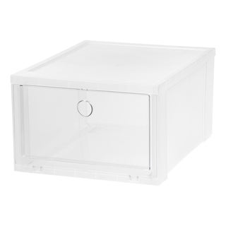 IRIS Wide Clear Pull Down Front Access Shoe Box