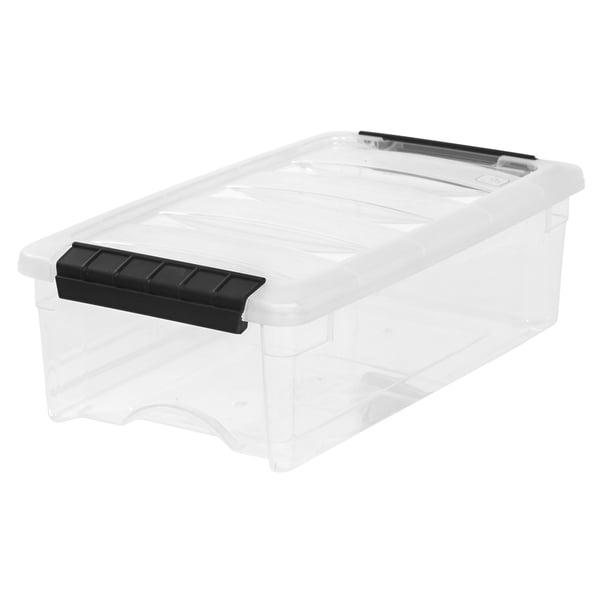 IRIS 5 Quart Stack & Pull Box, Clear