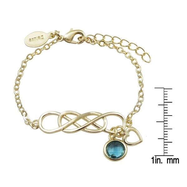 "Luxiro Gold Finish Cubic Zirconia Girl's Open Bar Bracelet, 5""+1"" Extender"