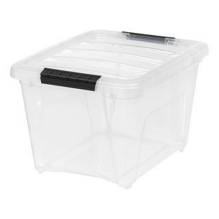 Link to IRIS 19 Quart Stack & Pull™ Box, 6 Pack, Clear with Black Handles Similar Items in Filing Storage & Accessories