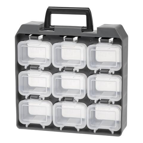 IRIS 9 Compartment Utility Case, Gray