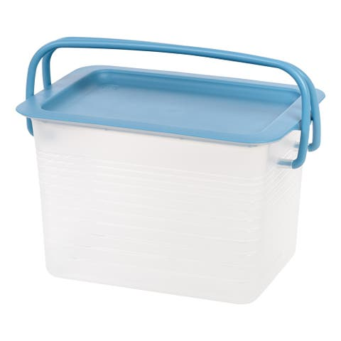 IRIS Small Stacking Basket with Blue Handles