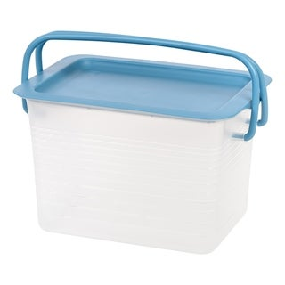 Link to IRIS Small Stacking Basket with Blue Handles Similar Items in Filing Storage & Accessories