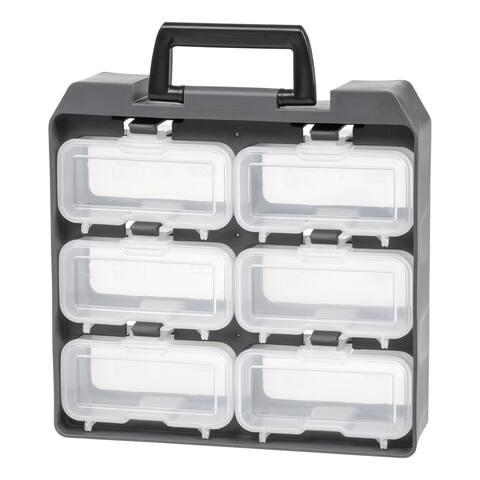 IRIS 6 Compartment Utility Case, Gray