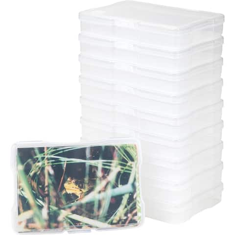 """IRIS 4"""" x 6"""" Photo Storage and Embellishement Craft Case, 10 Pack, Clear"""