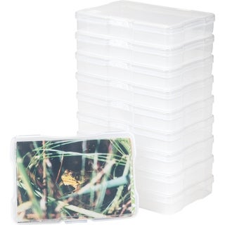 "Link to IRIS 4"" x  6"" Photo Storage and Embellishement Craft Case, 10 Pack, Clear Similar Items in Filing Storage & Accessories"