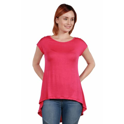 24seven Comfort Apparel Hi Lo T Shirt For Women
