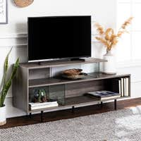 Deals on Carson Carrington 60-inch Asymmetrical TV Stand Console