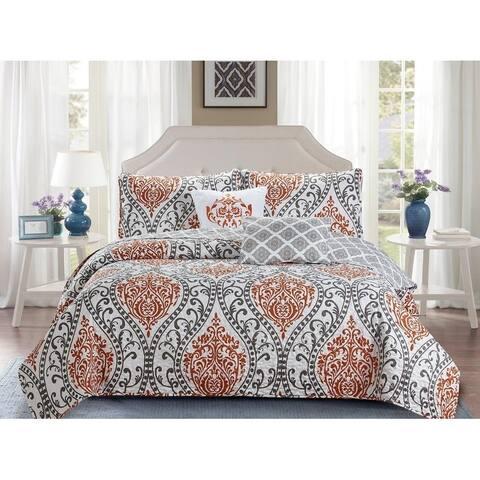 Madison Collection 5 Piece Beautiful Reversible Design Quilt Set