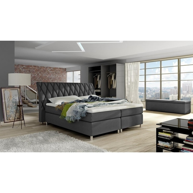 Shop Gomer Box Spring Bed European King Size 72 X 80 Inch