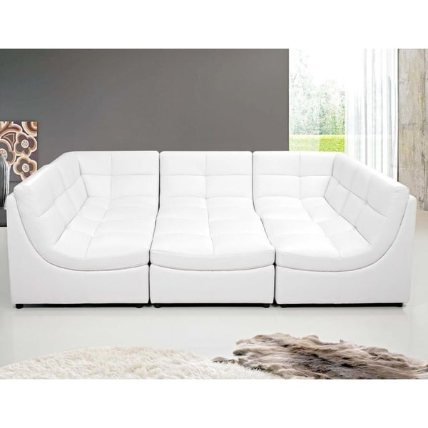 Best Master Furniture 6 Pieces Modular Bonded Leather Sectional