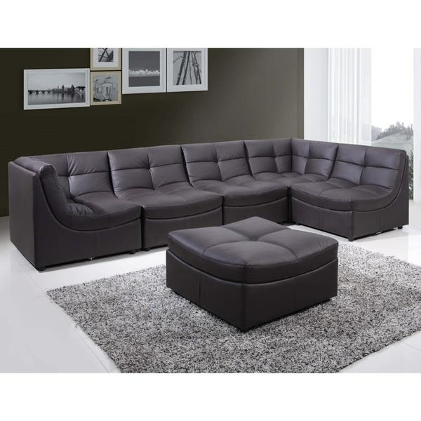 Shop Best Master Furniture 6 Pieces Modular Bonded Leather ...