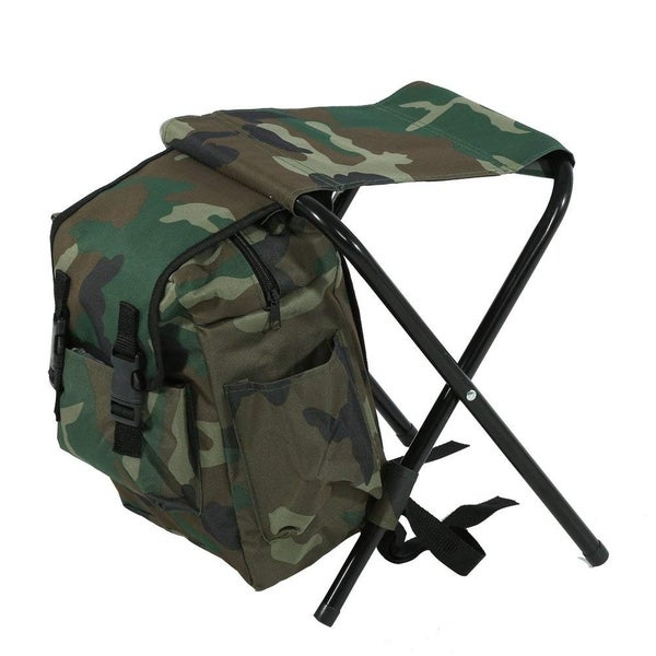 Camping Backpack Bag with Folding Chair Stool