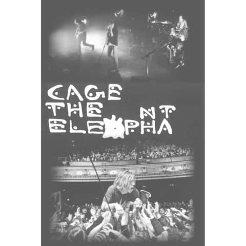 Cage the Elephant Group 36x24 Music Band Art Print Poster