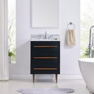 Strick & Bolton Yatesling Modern Black Marble Vanity