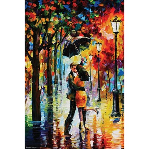 Dance under the Rain by Leonid Afremov 36x24 Romantic Art Print Poster