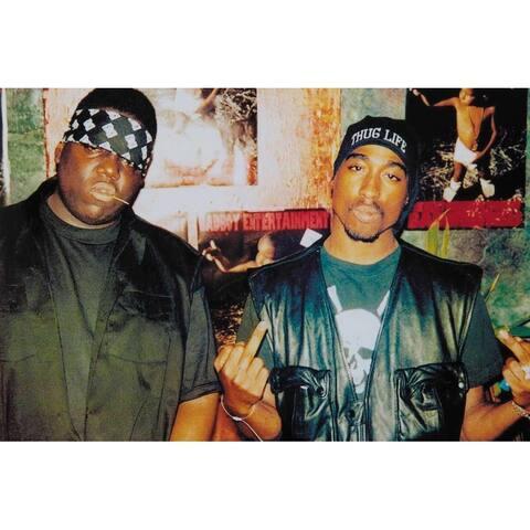 Bad Boys Thug Life - Tupac Shakur Biggie Smalls 36x24 Rap Hip Hop Art Print Poster