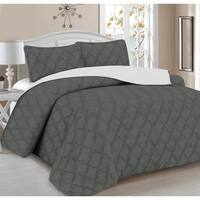 Home Sweet Home 3-Piece Diamond Embroidery Reversible Quilt Set
