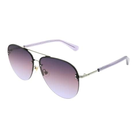 f6dc17f5fb481 Kate Spade KS Jakayla YB7 QR Womens Silver Frame Purple Gradient Lens  Sunglasses