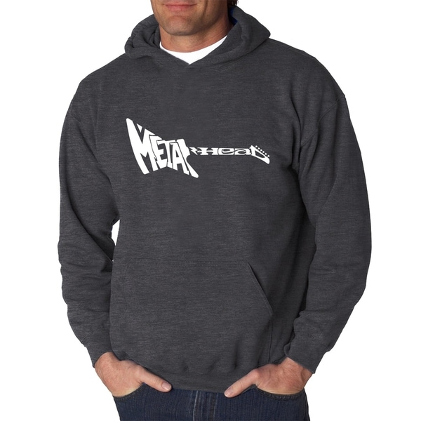 Mens Word Art Hooded Sweatshirt - Metal Head - LA Pop Art