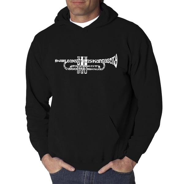 Mens Word Art Hooded Sweatshirt - Trumpet - LA Pop Art