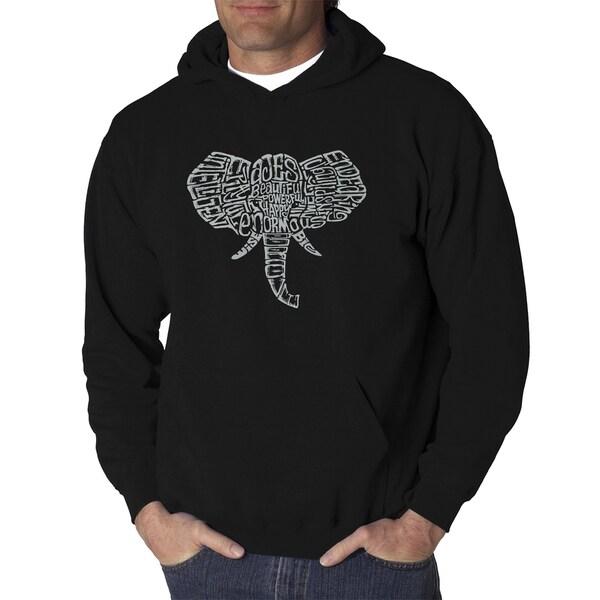 Mens Word Art Hooded Sweatshirt - Tusks - LA Pop Art