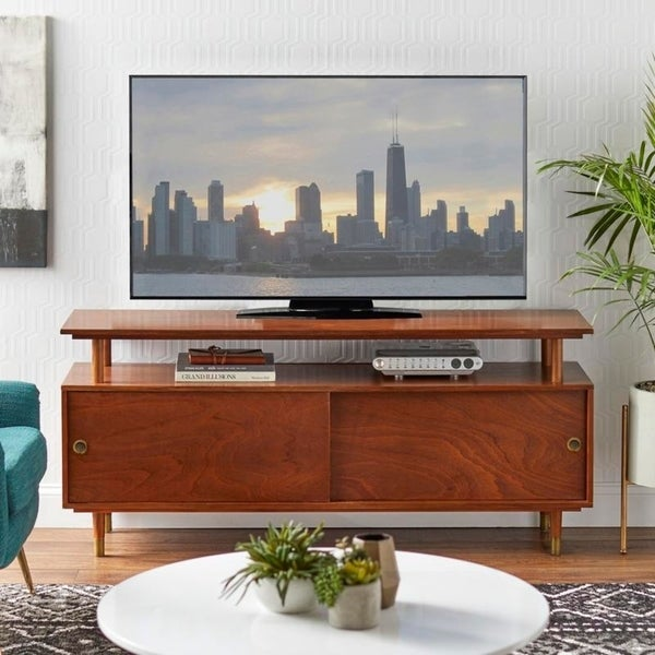 Simple Living Margo Mid-century Wood TV Stand