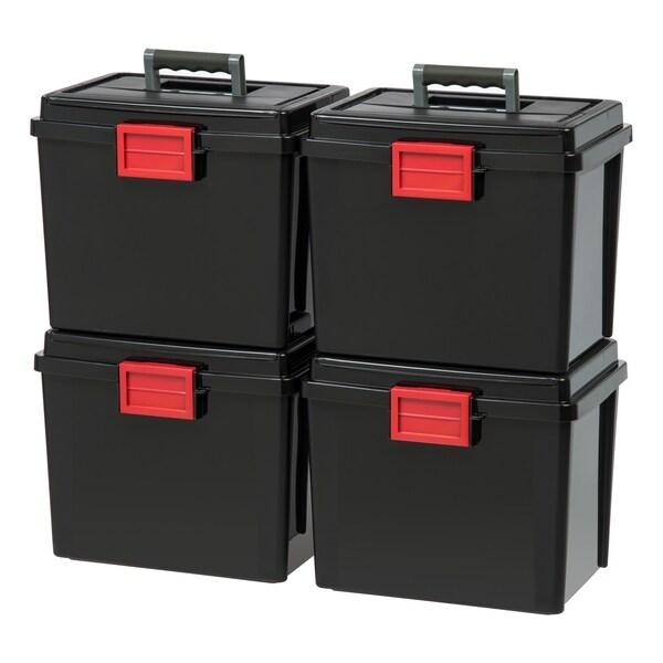 Shop IRIS Letter Size Portable Weathertight File Box, 4 Pack
