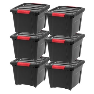 Link to IRIS 19 Quart Stack & Pull™ Box, 6 Pack, Black Similar Items in Filing Storage & Accessories